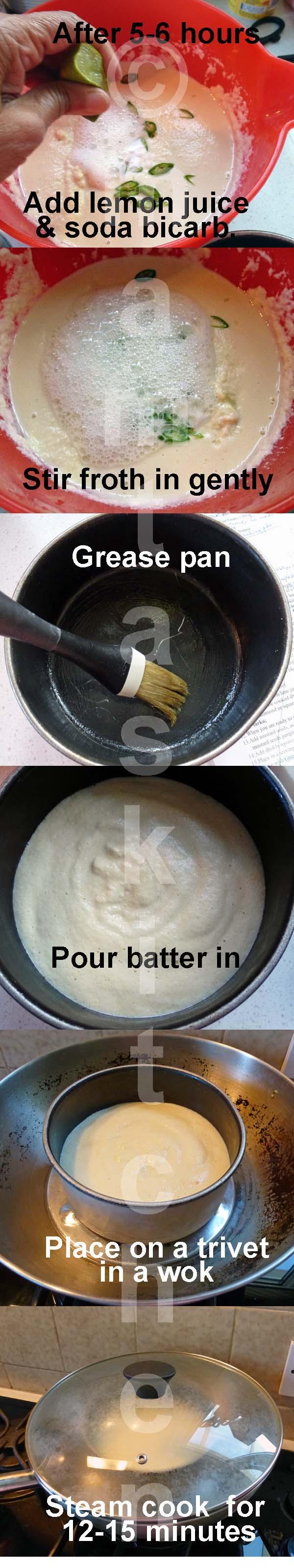 Dhokla - 1, Chana Dal & Rice Savoury Steamed Cakes, Abha's