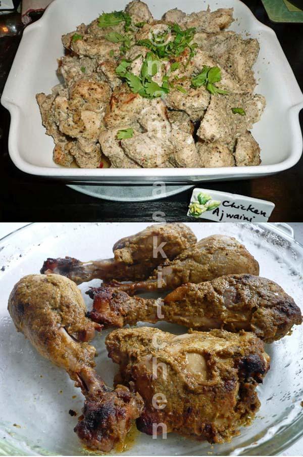Tandoori Chicken - 2, Ajwaini (With Carom Seeds)
