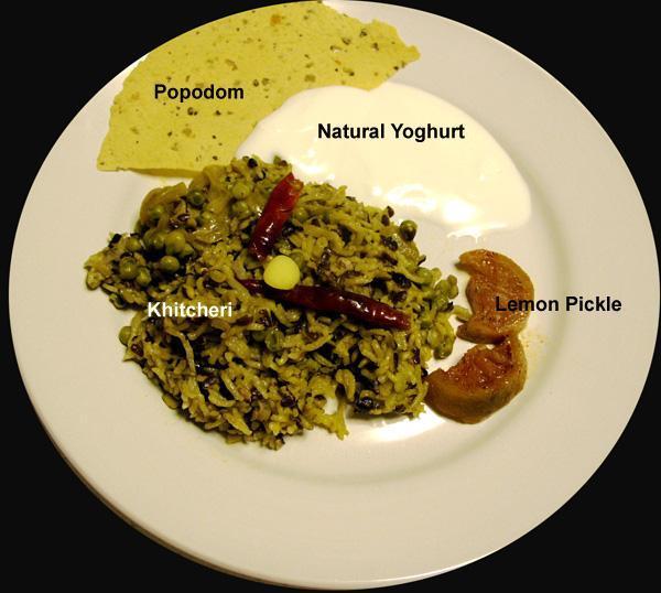 Khitcheri, A Mung or Urad Dal and Rice Mix
