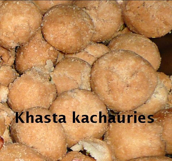 Khasta Kachauri 1, Mung Dal Spicy Pasties from North India
