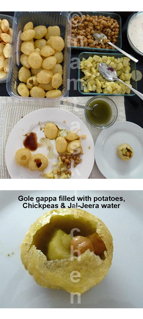 Gole-gappa, Semolina Puffs with Fire Water