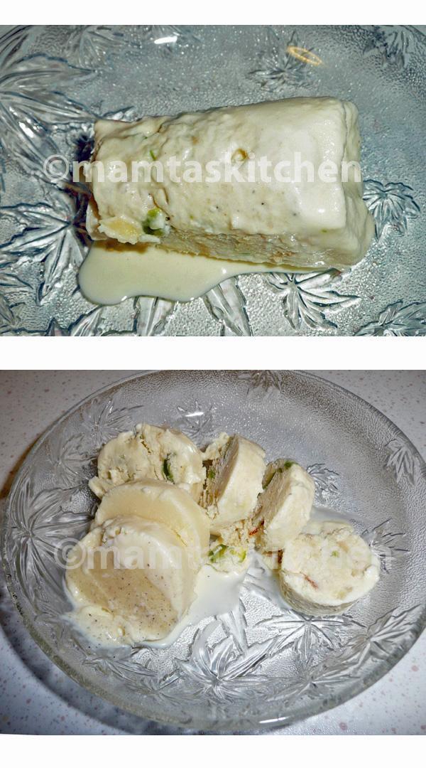 Kulfi Indian Ice-cream - 2, With Bread