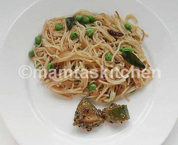 Savoury Indian Vermicelli 1 with Peas or Other Vegetables