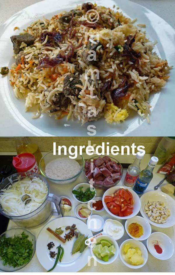 Lamb Biryani Rice