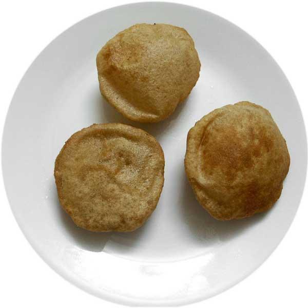 Poori Plain, Indian Fried Bread