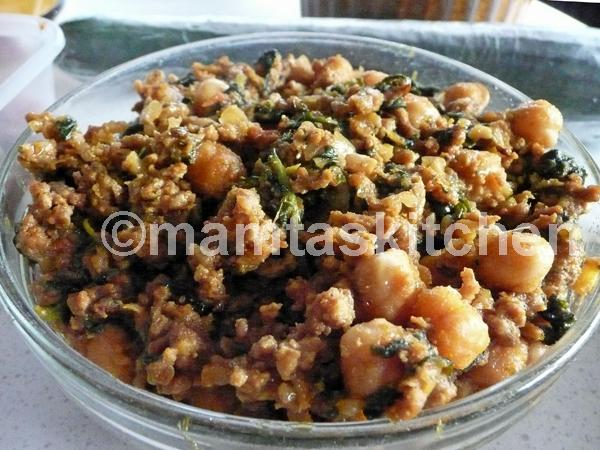 Chickpea And Keema Mince Meat Curry