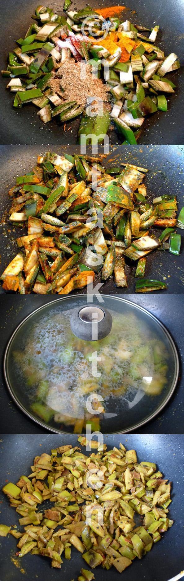 Green Banana Skin Bhaji/Sabji