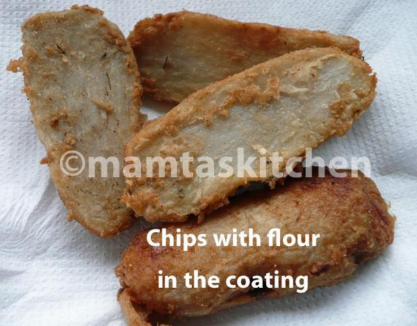 Colocasia (Eddoes) Chips with Flour or Sago Coating