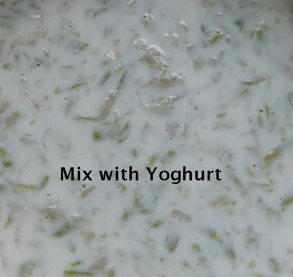 Bottle Gourd Raita 2 (Yoghurt), Salt Free, Easy Method