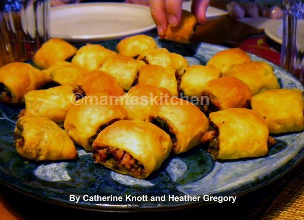 Meat or Chicken Samosa Sausage Rolls