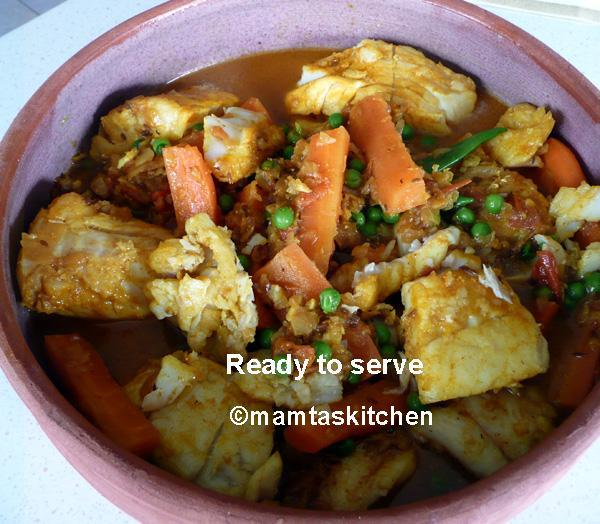Fish Curry with Vegetables