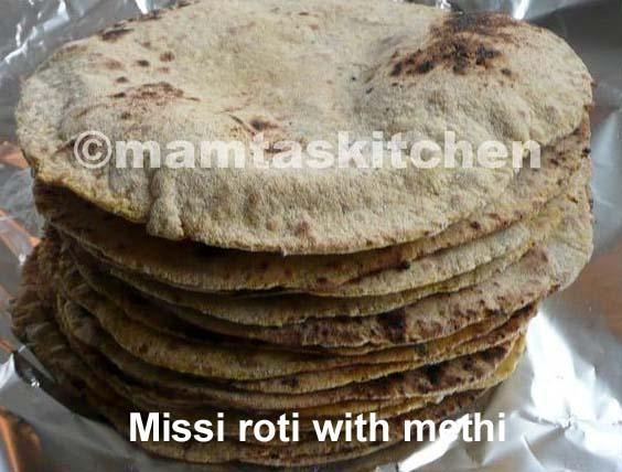 Missi Roti 1, (Wheat And Bengal Gram Flour)