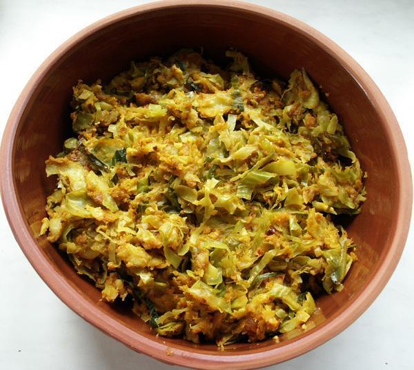 Cabbage Bhaji/Sabji 5 With Gram Flour