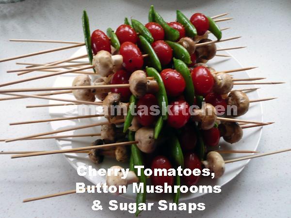 Barbecued Vegetable on Skewers