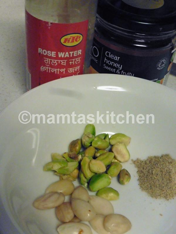 Almonds, Pistachio And Saffron Milk Shake