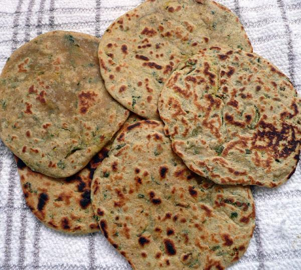 Methi Paratha 1 (Fenugreek Leaves in Dough)