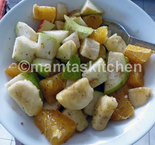 Fruit Chaat, a Spicy Indian Fruit Salad