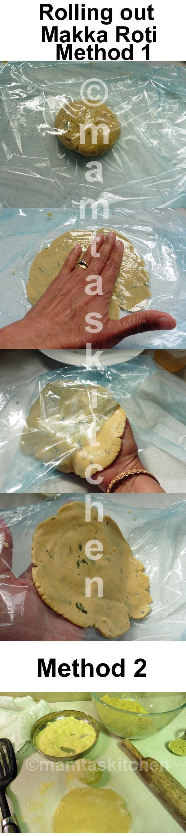 Cornmeal Roti (Flat Bread)