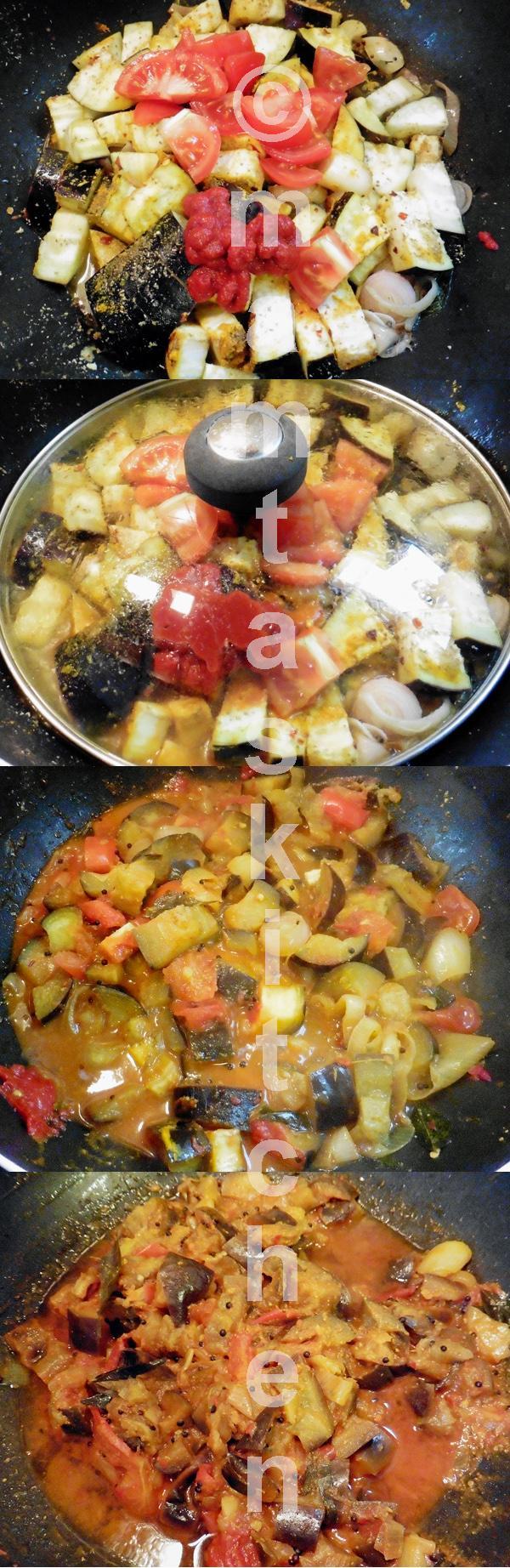 Aubergine Bhaji/Sabji With Balsamic Vinegar