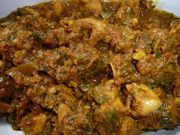 Chicken Saag - Chicken Curry with Spinach Or Lambsquarter