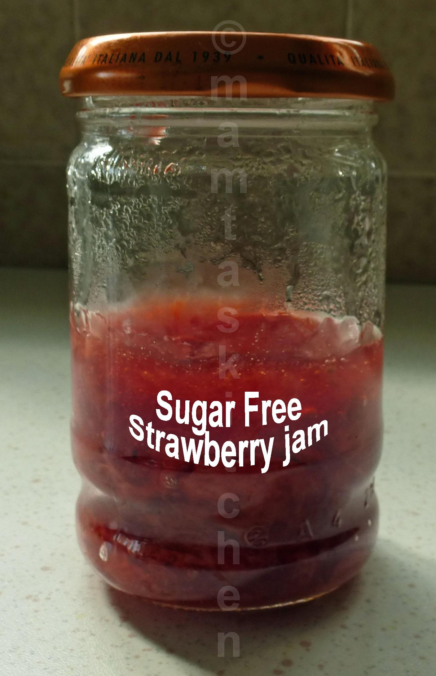 Sugar Free Strawberry or Raspberry Jam
