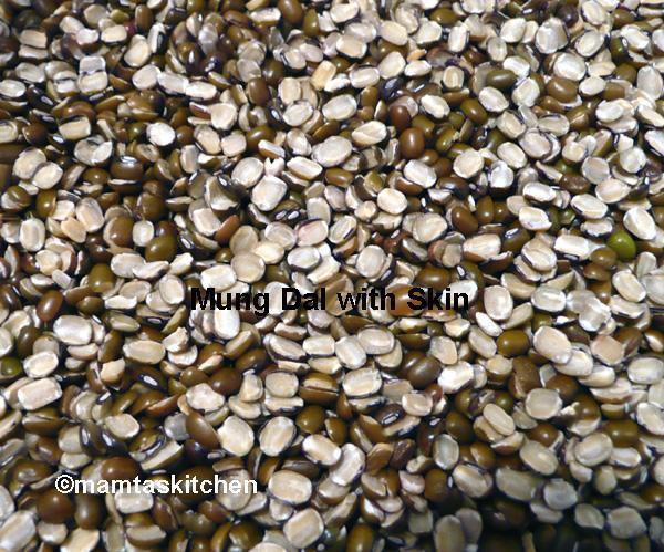 Mung Dal-Split Green Gram With Skin