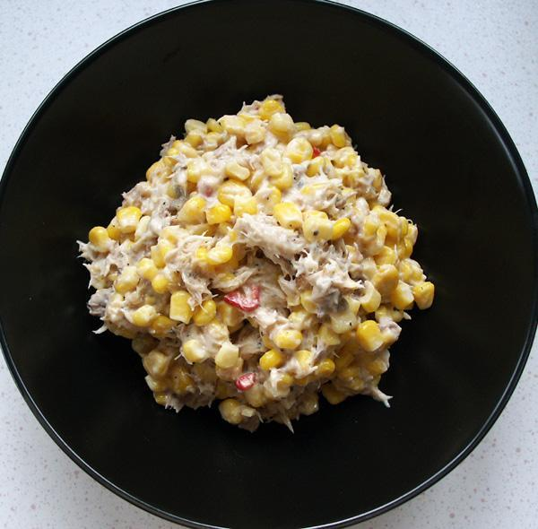 Smoked Mackerel Salad 4, With Corn Or Beans