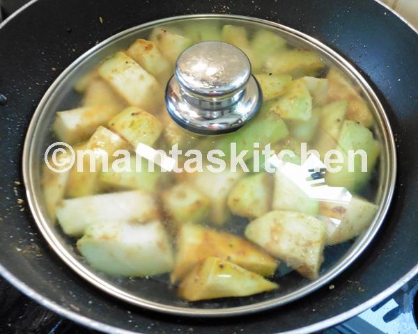 Chayote Vegetable Pear Bhaji (Dry Curry)