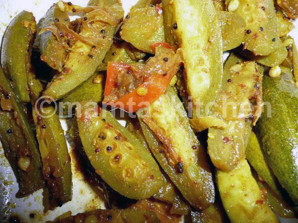 Parval (Pointed Gourd) and Potato Bhaji 2 (dry)