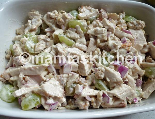 Chicken, Grape and Walnut Salad with Mayonnaise Dressing