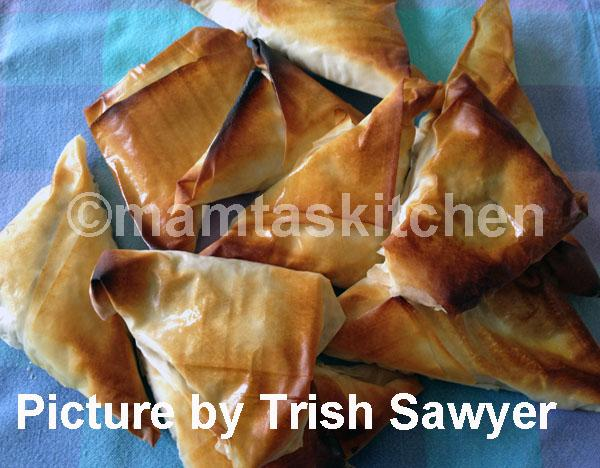 Oven Baked Lamb Samosa with Filo Pastry