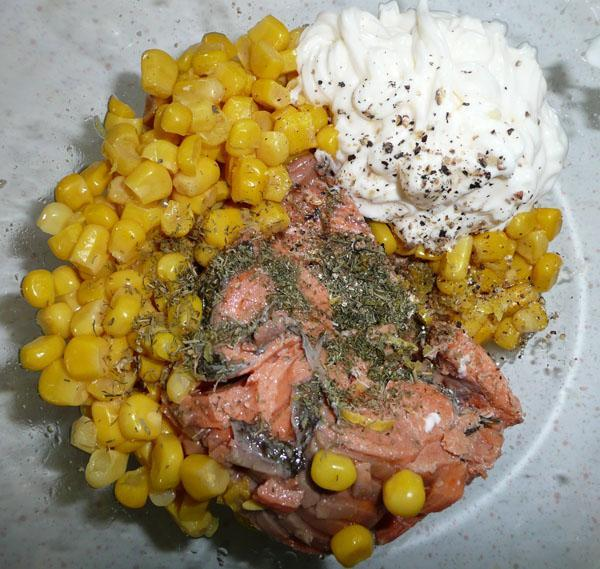 Salmon and Corn Salad
