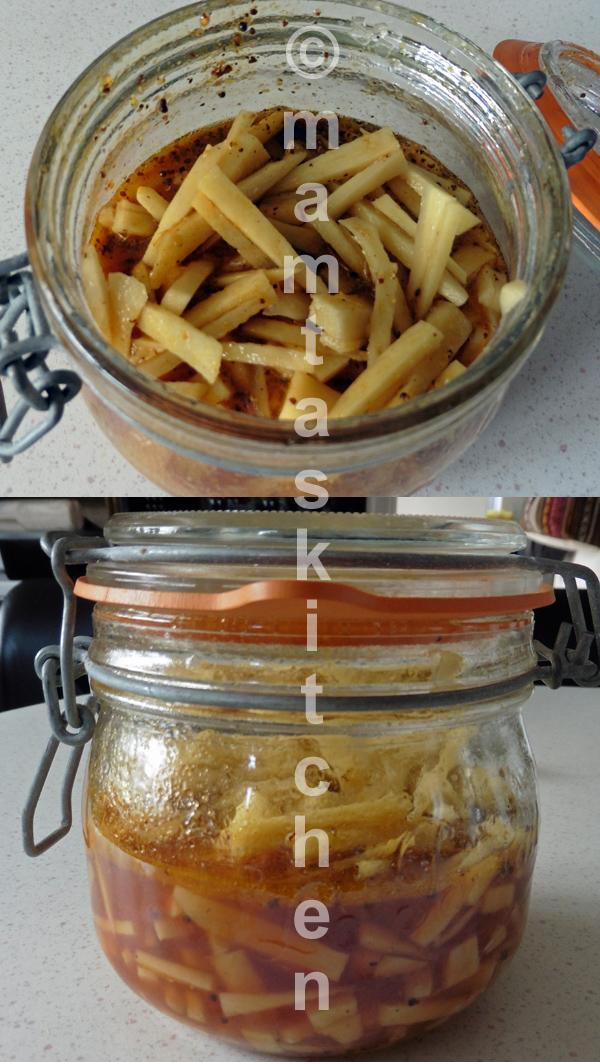Ginger Pickled in Lime Juice or Vinegar, Mrs. Rastogi's