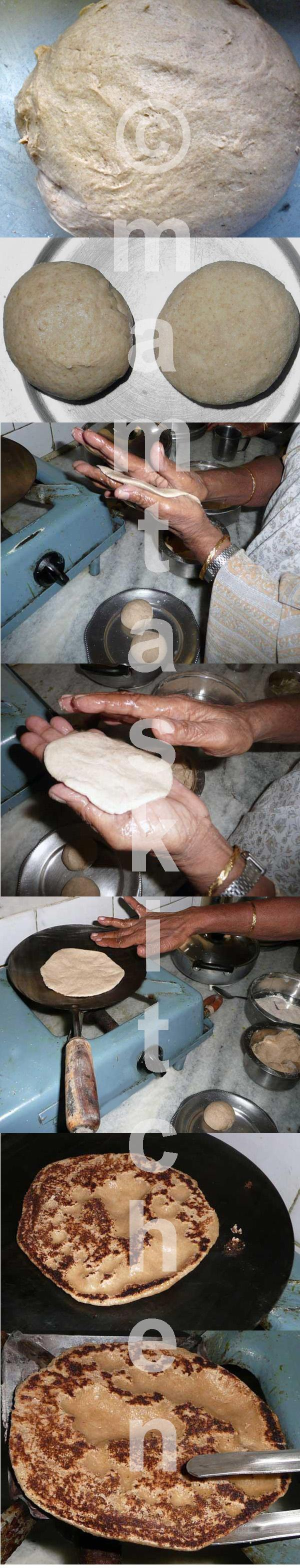 Roti Made With Wetted Palms