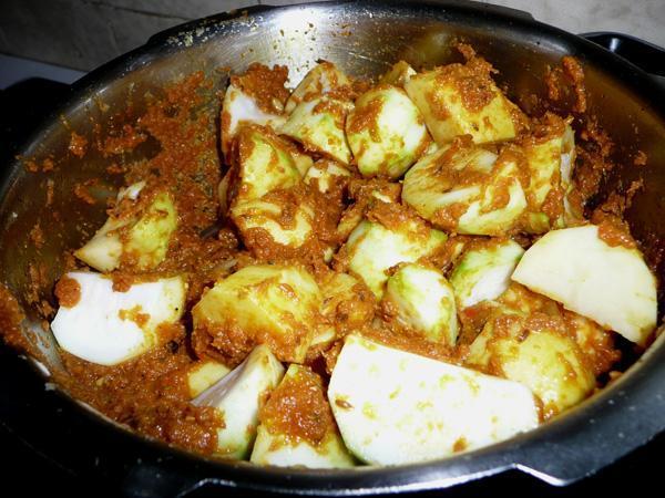 Tinda Gourd Masala Curry 1 (No Tomatoes)