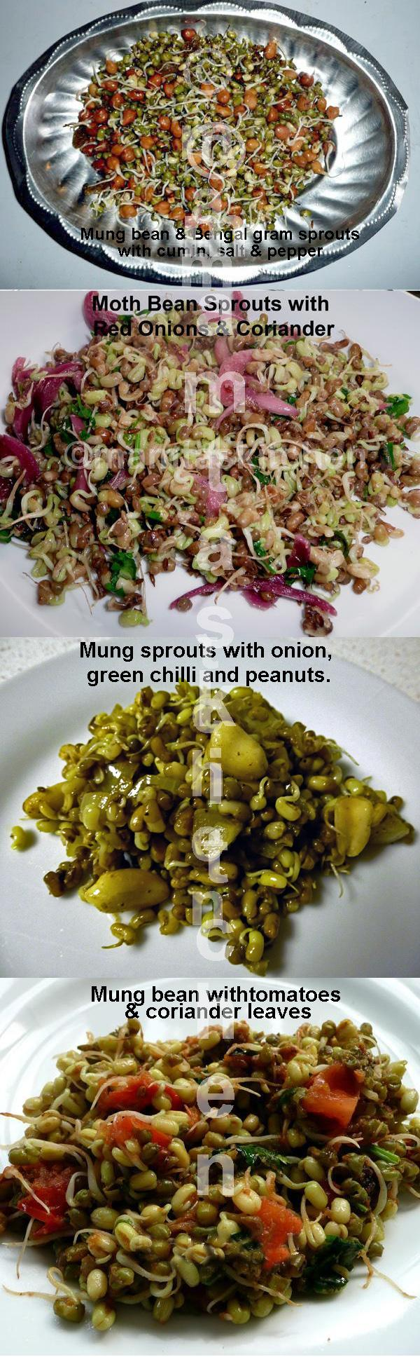 Sprouted Bengal Gram or Other Beans/Peas Stir-Fried