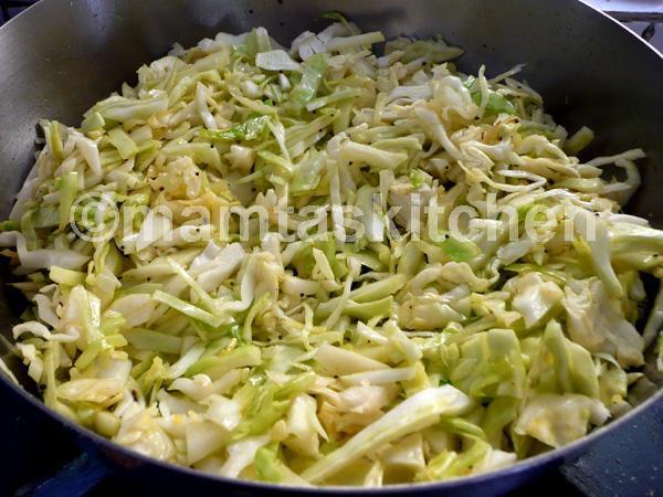 Cabbage Bhaji/Sabji 6 With Low Spices