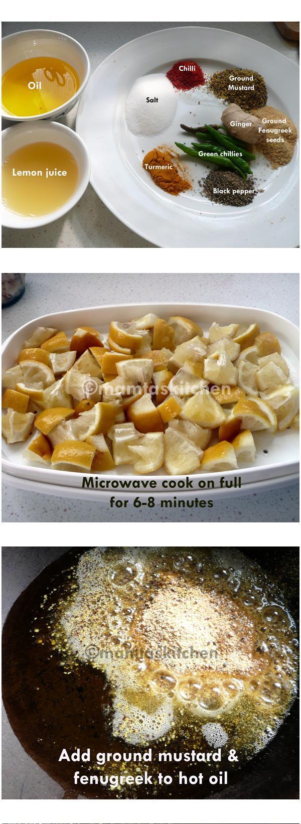 Lemon Pickle - 2, A Quick Microwave Method
