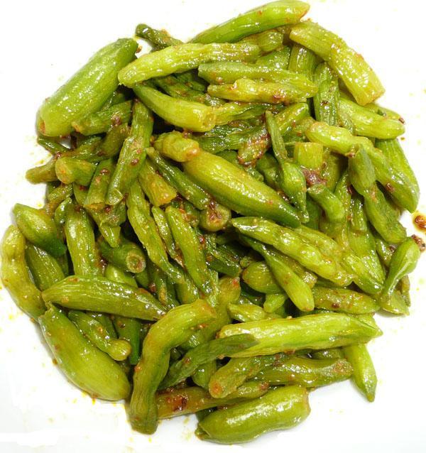 Mungre (Radish Seed Pods) Bhaji/Sabji