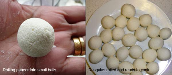 Rasgulla 1, Paneer Cheese Balls in Syrup