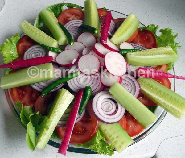Mamta S Kitchen Salad Platter North Indian