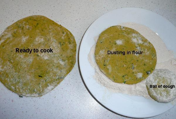 Turmeric Yellow Roti or Chapatti