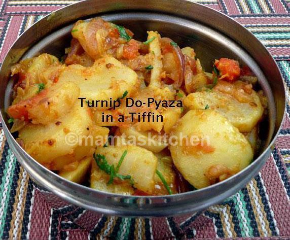 Turnip Do-Pyaza Sabji/Bhaji