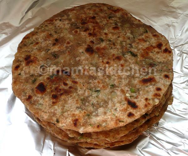 Coriander, Onion and Green Chilli Paratha