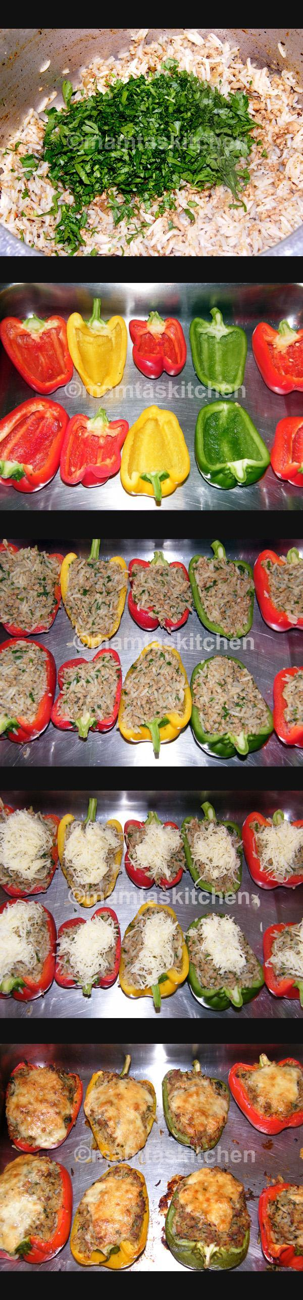 Stuffed Peppers 4, with Pork Mince and Rice