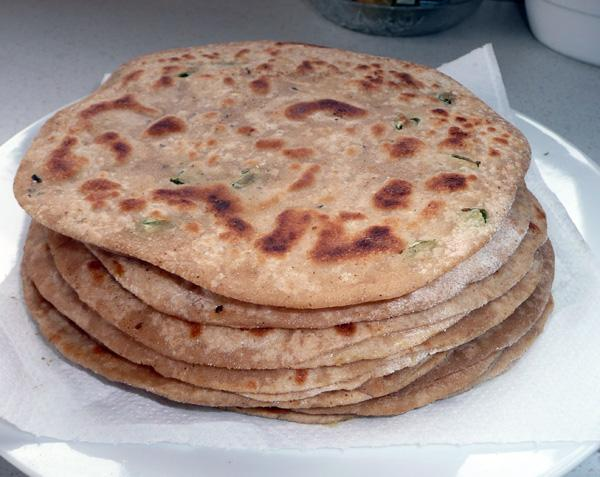 Carrots Stuffed Paratha