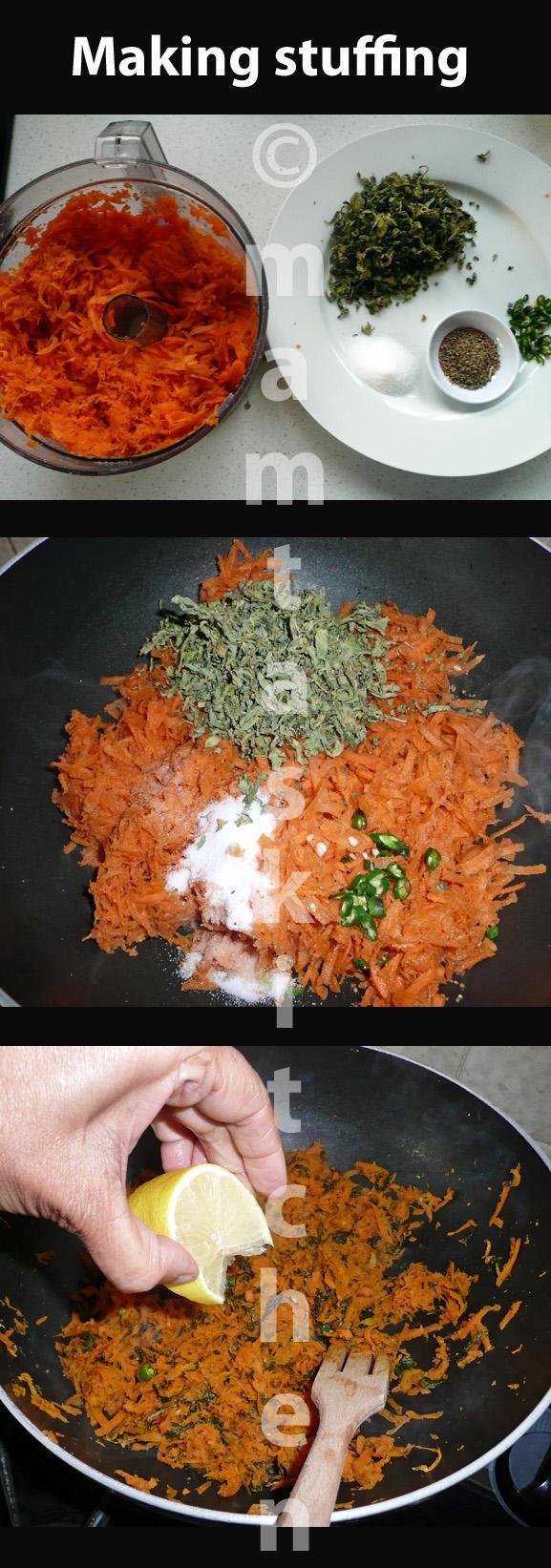 Carrots Stuffed Paratha