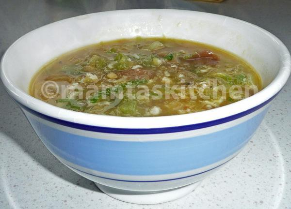 Lettuce and Crab Soup