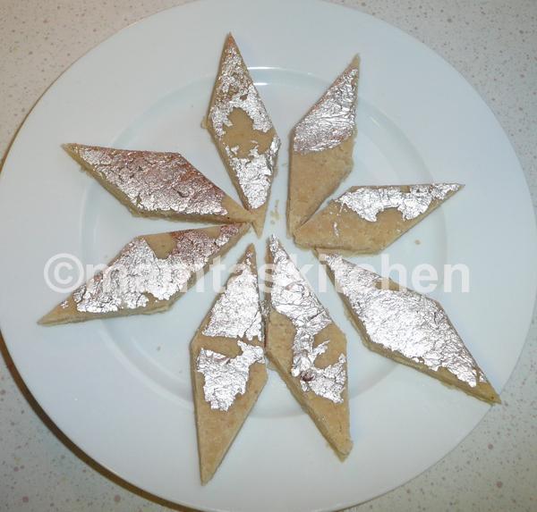 Almond Burfi 1 (Traditional)