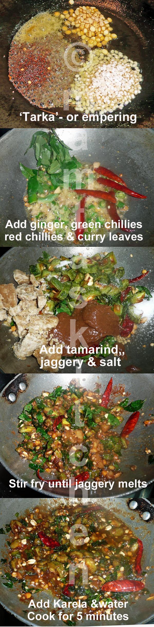 Karela (Bitter Gourd) Chutney with Tamarind